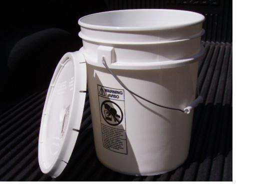 bucket or round wastepaper basket