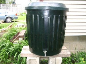 Rain Barrel with Spout
