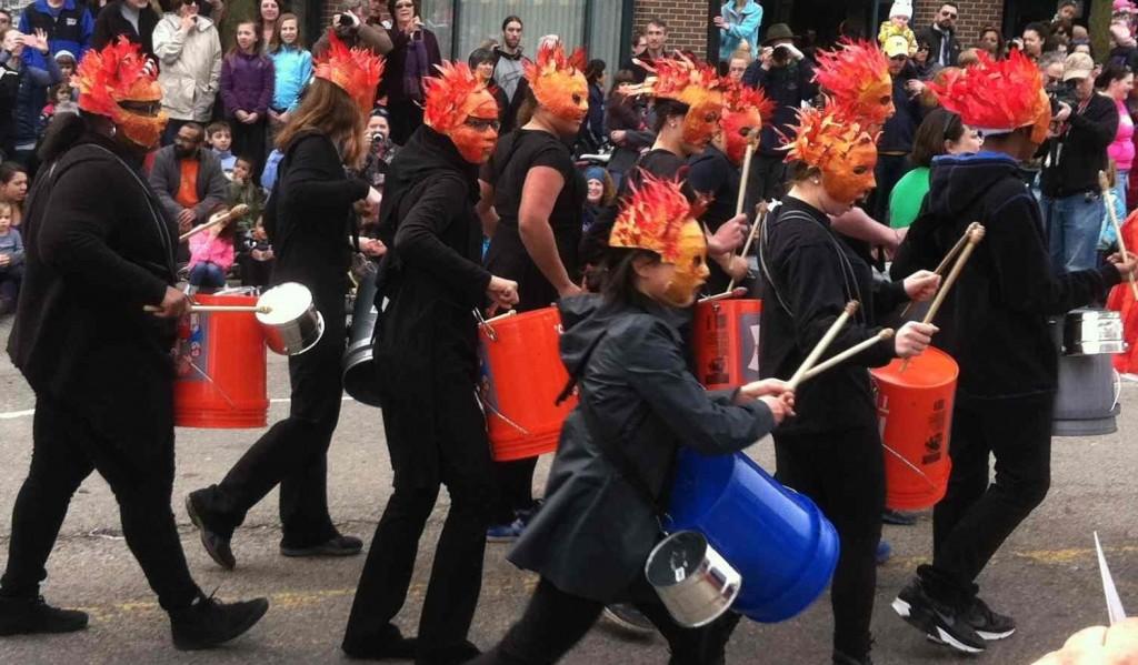 Parade Flaming Drums