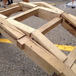 A sturdy DaVinci Bridge made of 2 x 4's